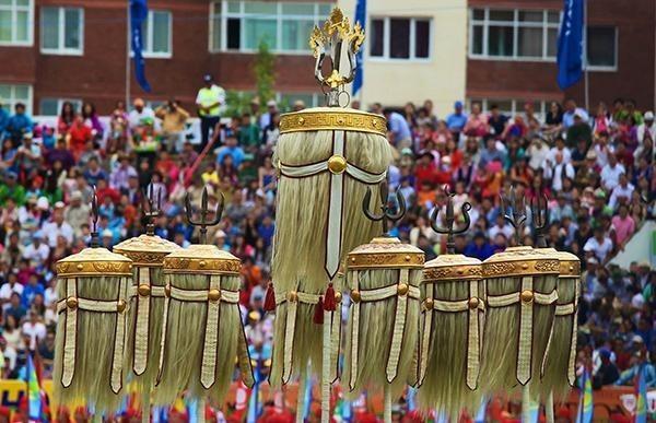 Das Naadam Fest als Anzahl