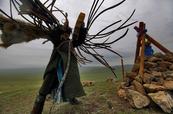 Schamanismus - eine traditionelle und ethnische Religion in der Mongolei.