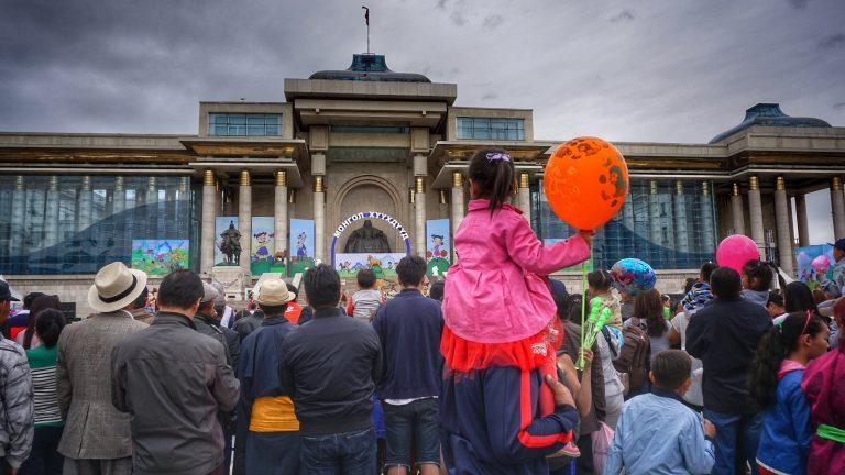 Kindertag in der Mongolei